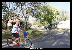 Bike ride (Kansas 360 Tours) Tags: guy mannequin lawrence with ks kansas dennis