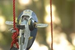 Swingers (skipthefrogman) Tags: vintage fun toy star ship action rope swing figure kenner boba wars hasbro fett slave1 skipthefrogman