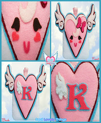 Flying Lovely Hearts (Soul Lovely Things) Tags: pink cute love fly flying heart handmade girly crafts craft felt bow crafty lovely