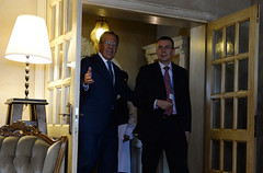 """E. Rinkēvičs (LV) and S. Lavrov (RU) CBSS 18th Ministerial Session • <a style=""""font-size:0.8em;"""" href=""""http://www.flickr.com/photos/61242205@N07/9006057186/"""" target=""""_blank"""">View on Flickr</a>"""