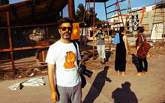The Director (N-Sarn) Tags: camera people man guy art festival project dark island mediterranean experimental tour culture croatia fringe event shipyard director happening adriatic lussino 2013 malilošinj lošinj škver
