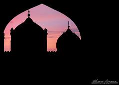 (kmaxood) Tags: pakistan sunset sunrise worship muslim islam faith mosque pinksky lahore allah quran badshahimosque