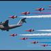 Airbus A400M and Red Arrows Flypast