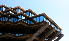 Day 45 (apathykathy) Tags: california snow tree architecture san university library diego knowledge fortress ucsd geisel inception