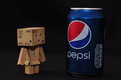 Introducing Pepsi Danbo! (Baker_1000) Tags: nikon cola drink can pepsi soda yotsuba danbo d90 2013 revoltech nikond90 danboard pepsidanbo pepsidanboard