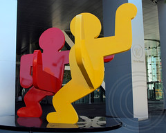 POPS001: TWO DANCING FIGURES Sculpture (1989) by Keith Haring, 17 State Street, Financial District, Downtown Manhattan, New York City (jag9889) Tags: 1 17statestreet 1987 aluminum architecture area art artist building city concession downtown financialdistrict keithharing leverhouseartcollection lowermanhattan manhattan ny nyc newyork office owned popos pops painted park plaza privately privatelyownedpublicspace public publicart publicspace resolution sculpture skyscraper space streetart tower untitled variance zoning 2013 jag9889 niouc