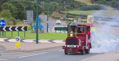Reproduction Puffing Billy traveling from South Hetton to Filey to comemorate the 30th aniversary of the closure of Butlins, at Crag Hall roundabout near Carlin How (yogi59) Tags: charity hospital ian south books celebration childrens billy freeman hetton filey puffing morrell closeure