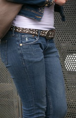 Jeans girl (Zangeressenlive) Tags: street girls candid jeans denim tight