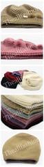 หมวกไหมพรมแฟชั่นทรงกลมคลุมศีรษะกันหนาวประดับด้วยเฟอร์เล็กๆด้านข้างอบอุ่นน่ารัก