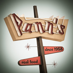 Pann's Restaurant (Shakes The Clown) Tags: california old food signs breakfast vintage typography lights restaurant losangeles cafe flickr neon i