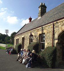 Day out at Beamish Museum, County Durham - waiting for the train (Snapshooter46) Tags: platform railwaystation dayout waitingforthetrain countydurham northeasternrailway beamishmuseum
