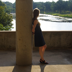 Dream River (michael.veltman) Tags: birthday trees woman sunlight college reflections river allison happy dress junior joliet