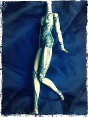 Nechthan's Body - WIP side detail (NeurodollasticSurgeryWard) Tags: blue white spirals patterns warrior pullip celtic tribe custom wandsworth triskelion celts repaint triskel obitsu pullipmoon celticwarfare nechthan bemydruidess