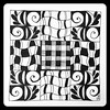 Zentangle (Ilse Lukken) Tags: blackandwhite art tile handmade zentangle wwwzentanglezooblogspotnl