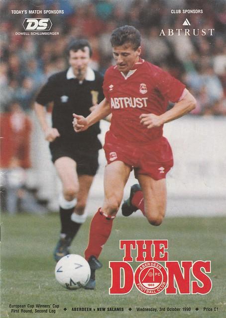 Aberdeen vs Nea Salamis 03.10.1990