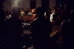 25-624 (ndpa / s. lundeen, archivist) Tags: people bali color men film musicians night 35mm dark indonesia temple dance sitting drum traditional nick ceremony culture nighttime 25 southpacific ritual tradition 1970s instruments hindu 1972 seated indonesian underexposed musicalinstruments balinese dewolf oceania pacificislands nickdewolf photographbynickdewolf dancedrama pacificislandculture reel25