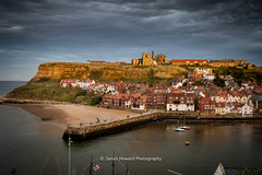 DSC_2717-2 (jameshowardphotography) Tags: whitby water harbour storm st marys abbey pier piers houses old town grass yorkshire north northyorkshire northeast northern england east coast clouds coastline seascape sea beach roof