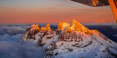Sunset at 10'000ft (PAMaire) Tags: em5 omd olympus suisse switzerland flight vol plane airplaneview valais vallese wallis valaiswallis dentsdumidi avion sunset europe mountain mountains snow neige