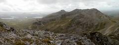 The Glencoaghan horseshoe: climbing Bencollaghduff (Binn Dhubh) (Mumbles Head) Tags: ireland eire connemara mayo glencoaghan gleannchochan mountains horseshoe thetwelvebens twelvepins