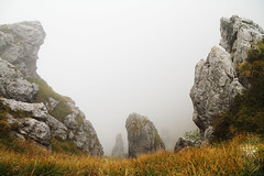 teeth (lightsaber*) Tags: rocks nembrini mountains baita landscape clouds cloud rock grass yellow autumn fog trekking explore wild chalet sky hiking green meadow cold valle brembana bergamo italy it lombardia cloudy foggy cai