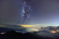 ~~  Milky way on clouds (Shang-fu Dai) Tags:  taiwan  nikon d800 sky landscape formosa galaxy   afs1635mmf4 milkyway  hehuan
