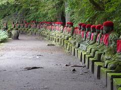 Looking back (seikinsou) Tags: japan nikko autumn kanmangafuchi gorge abyss daiyagawa river jizo align