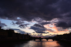 Tramonto in Arno (michele.palombi) Tags: firenze sunset toscana arno