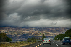 Windmills and clouds (sandyb49) Tags: 2016 columbiagorge day1 oregon oregonstatepark september clouds ontheroad vacation windturbine