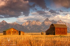 Mormon Row (James Shooter) Tags: autumn landscape september usa barns fall grandtetonnationalpark grandtetons mormonrow sunrise teton wyoming