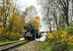 Dubrave Autumn (Kingmoor Klickr) Tags: kreka mines tuzla kreigslok 33248 dubrave bosniaherzegovina industrial steam railway dr524772 baureihe52