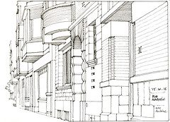 Lige, rue Maghin (gerard michel) Tags: belgium lige rue maison sketch croquis