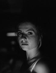 In the weak light... I saw you... Becoming the light...  #mamiya645 #kodakfilm #kodaktrix #analogphotography #film #shootingfilm #portrait (sheye152) Tags: portrait kodaktrix mamiya645 analogphotography film shootingfilm kodakfilm