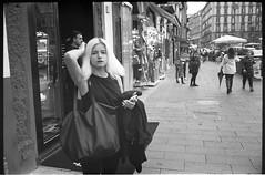 (Bleached is Beautiful) (Robbie McIntosh) Tags: leicamp leica mp rangefinder streetphotography 35mm film pellicola analog analogue negative leicam summilux analogico leicasummilux35mmf14i blackandwhite bw biancoenero bn monochrome argentique summilux35mmf14i autaut dyi selfdeveloped filmisnotdead kodaktmax400 kodak tmax arsimagofd leicasummilux35mmf14 summilux35mmf14preasph strangers woman girl blonde bleached eyecontact