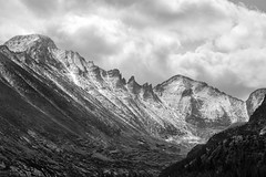 Early Snow - Rocky Mountain National Park, CO, September, 2010 (Norm Powell (napowell30d)) Tags: fineart blackandwhite rockymountains nationalpark mountains landscapes nps snow bw nationalparks monochrome travel nationalparkservice colorado landscape rockymountainnationalpark mountain