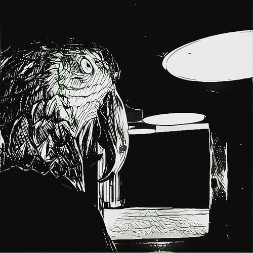 Der Staatsbesuch. Der späte Wurm entgeht dem Vogel. 2016