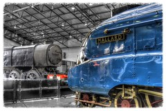 Beauty and the Beast ! ............ (Alan Burkwood) Tags: nrm york a4 q1 steam locomotives nik filters