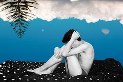 What do you feel? (Fx' Clover) Tags: sky blue bluesky clouds cloudy abstract art boy guy men man sexy conceptual photoconceptual conceptualphotography portrait canon canonistas eos rebelt3 1100d photooftheday photography