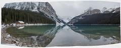 Lake Louise panorama (waysofseeing) Tags: lakelouise mountain outdoors panorama victoriaglacier