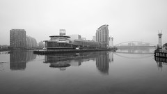 Salford Quays through the November drizzle (nickcoates74) Tags: 12mm 12mmf20 a6000 ilce6000 lowry manchester salford salfordquays samyang sony uk