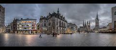 Marktplatz am Abend (p h o t o . w o r l d s) Tags: hallesaale eveninglight beautifullight sachsenanhalt deutschland germany hdr tonemapping fujixt10 fuji14mm28 photoworlds marktplatz panorama