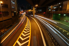night highway light stream 01 (HAMACHI!) Tags: sony sonyrx100v dscrx100m5 cybershot 2016 japan tokyo lightstream night highway