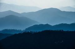 Dreamscape (eyenamic) Tags: mountains hills landscape minimalism outdoor shades blue ridge mountainridge evening dusk himalaya uttarakhand binsar nikon