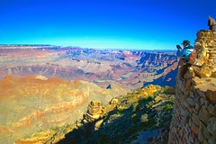 Chasing the Big Picture (Herculeus.) Tags: 2016 buildings canyon country day flowersplants grandcanyonnp landscape landscapes manmen maryjanecolter oct outdoor outdoors outside people photography southrim towers trees navahowatchtower ngc 5photosaday navahopoint astoundingimage
