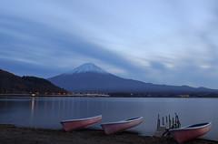 Lake Kawaguchi just after the sunset (Larissa Merces Photos) Tags:  mount fuji canon sigma lake landscape eos kiss x5
