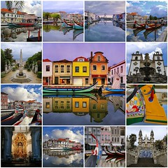 Aveiro is Portugal's hidden gem (B℮n) Tags: portugal aveiro moliceiros boat gondel traditionally charm magic hidden gem reflections water canals maritime colour fishermen paintwork azulejo fishing veice lagoon urban festival seaweed tourist holiday vacation pink yellow colors blue round city hopping ornate images man woman clouds weather after rain eusebio picturesque built networks channels fdsflickrtoys best collection collage