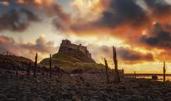 Lindisfarne Castle (Dave Holder) Tags: lindisfarnecastlenorthumberlandmilky lindisfarnecastle sunrise castle lanscape seascape sun rocks northumberland clouds leefilters canon6d