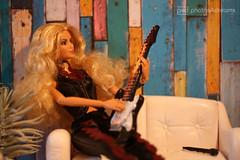 shakira on guitar (photos4dreams) Tags: backstagepartyp4d dress barbie mattel doll toy photos4dreams p4d photos4dreamz barbies girl play fashion fashionistas outfit kleider mode puppenstube tabletopphotography shakira