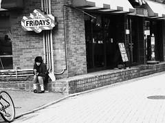 Tgif (jumppoint5) Tags: street urban city harajuku tokyo japan blackandwhite smoke girl
