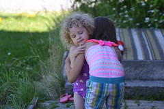 Hugs (Vegan Butterfly) Tags: children kids friends friendship hug hugs cute adorable love girls people candid outside outdoor