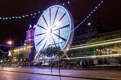 Ferris wheel, Leeds (marklewis35) Tags: ferris wheel leeds city cityscape lighttrails long exposure
